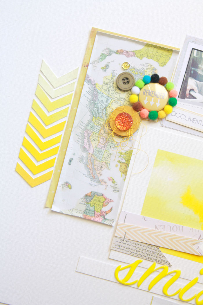Smile-yellow-layout1, crate paper, chevron, yellow, scarlet bird designs, map