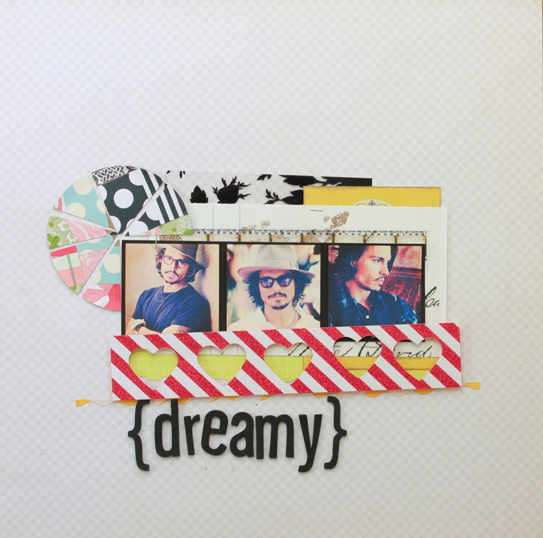 Dreamy-layout, the creative type, use your type, crush, scrapbooking, hearts