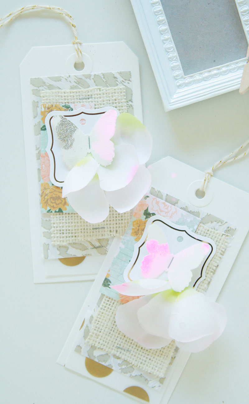 Blossom-tags1,happylikeyellow, floral tags, gift tags, pink tags, wedding gift tags