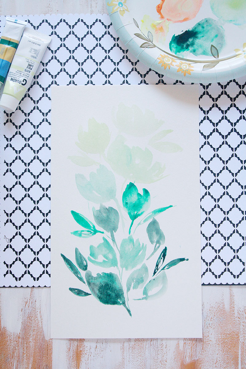 Watercolor-floral-green